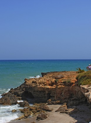 Crete beach people