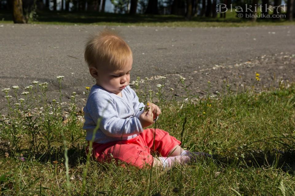Baby in summer