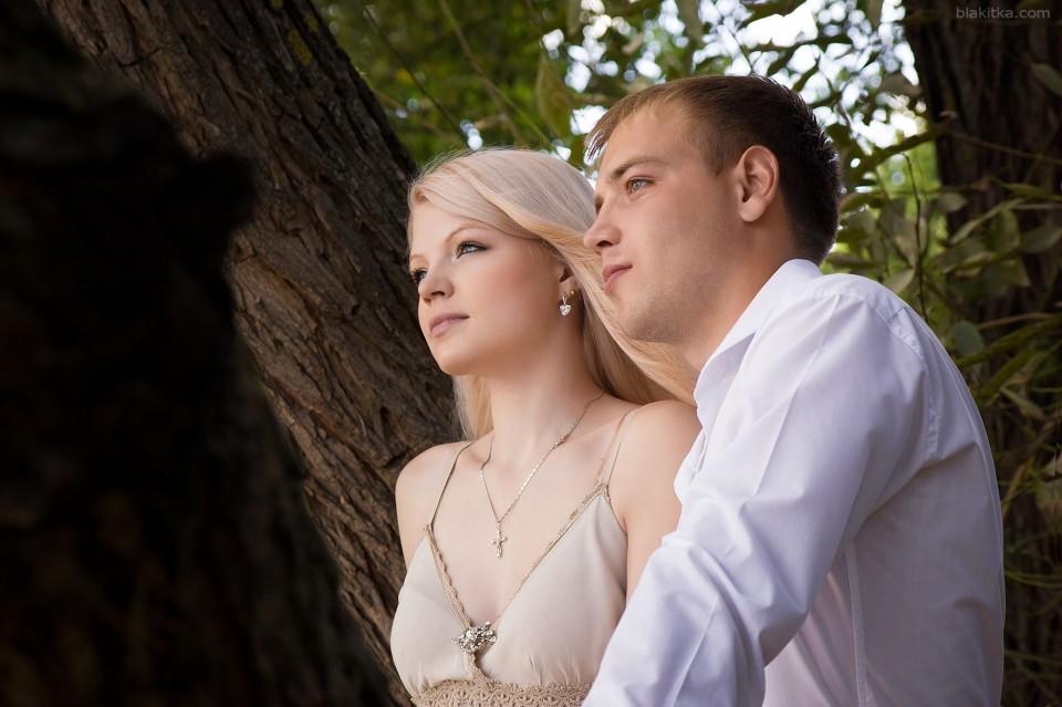 Beautiful blonde couple