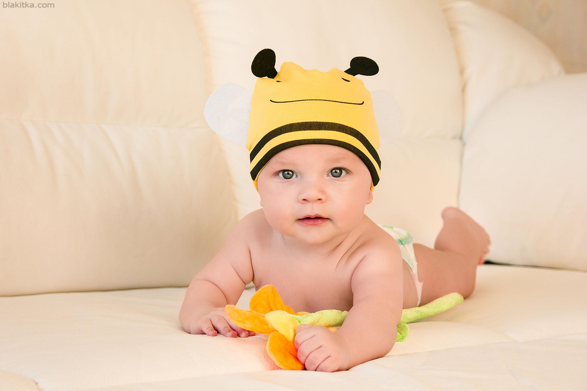 Little Boy in a bee hat