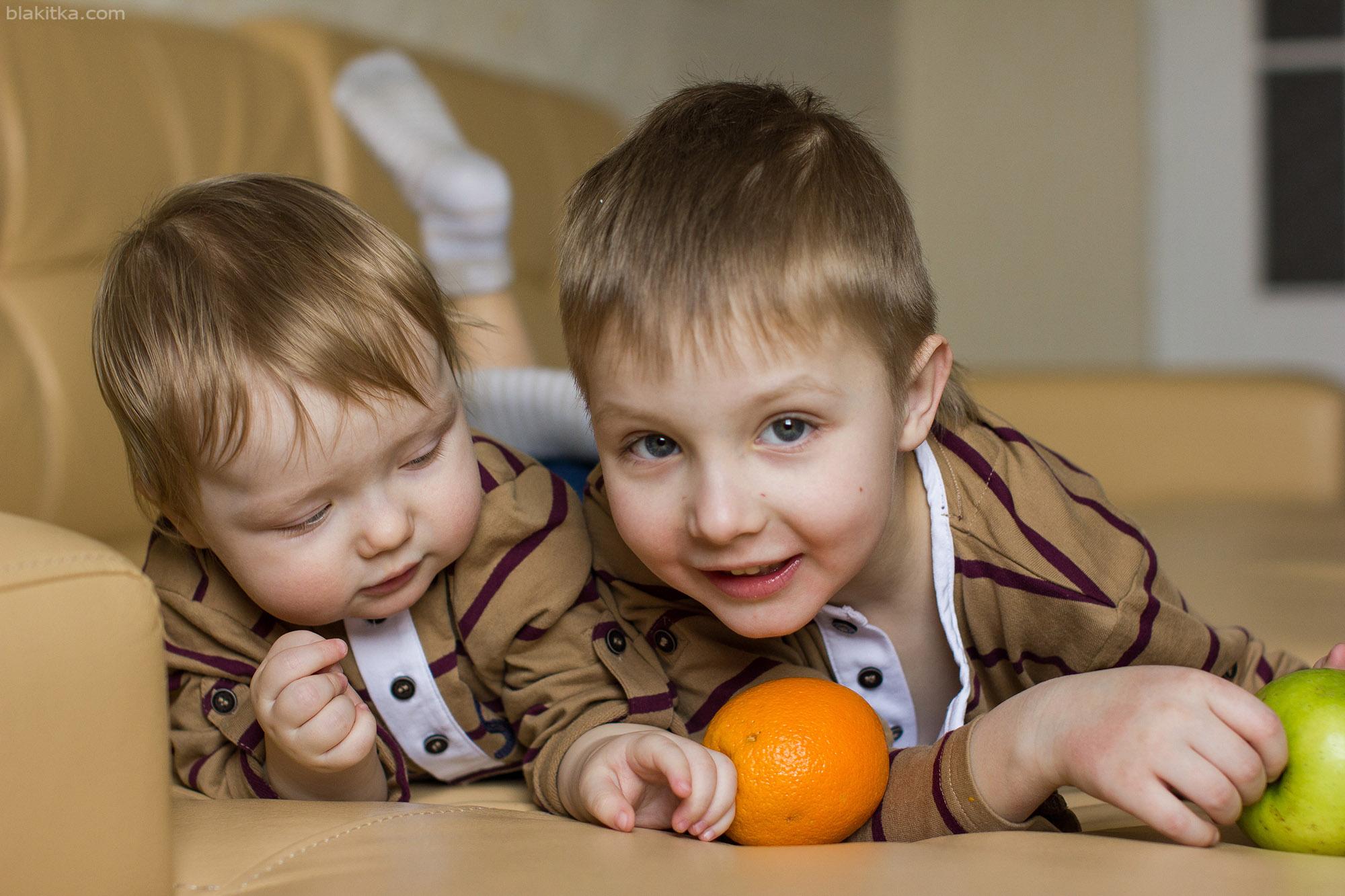 Two boys happy